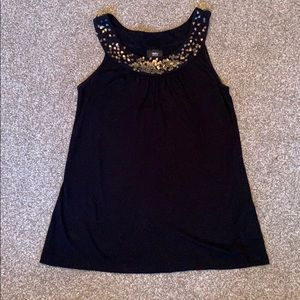 Mossimo Sequin Black Flowy Tank